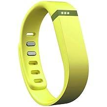 EGS - Correa y cierre de repuesto para pulsera Fitbit Flex, tamaño grande, color amarillo limón