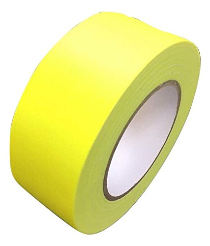 Neon Klebeband matt Gelb fluoreszierend 25 mm x 25 m Gaffa Tape UV Duct Tape