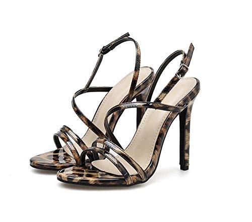 Leopard-print-slingbacks (Mamrar Women Pump Hollow Leopard Print High Heel Sandals Sexy D ' Orsay Slingbacks OL Court Roma Shoes Eu Size 34-40,Leopardprint,38EU)