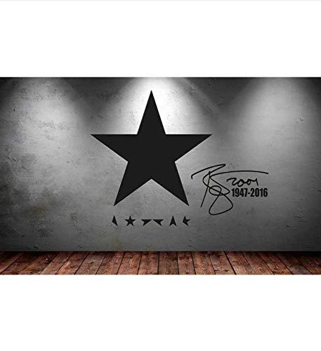 Qthxqa David Bowie Celebrity Vinyl Wandaufkleber Abnehmbare Wasserdichte Wandtattoo Dekor Wohnzimmer Schlafzimmer Tapete Wandbild 35 * 45 Cm