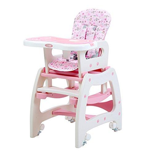Reisen Cots Brisk-3 In 1 Baby Hochstuhl Schreibtisch Cabrio Spieltisch Umwandlung Sitz Booster-Multifunktionale Baby Hochstuhl L50 * W64 * H110cm (Color : Pink) - Multi Glider