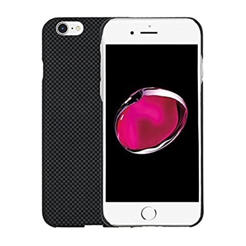 Kevlar iPhone 6 Coque/iPhone 6s Case-LEAPCOVER ®, Performance, Bulletproof Matériaux Aramide 0,7 mm Ultra-thin Environnement Amical Couvercle Compatible pour Apple iPhone 6/6s(4.7in-ch) (Noir et