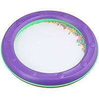 yibuy 25x 25x 3cm redondo plástico borde ola de mar Bead Tambor Suave Mar Sonido Juguete Educativo Preescolar para niños, morado