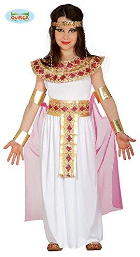 KINDERKOSTÜM - ÄGYPTERIN - Größe 142-148 cm ( 10-12 Jahre ), Antike antikes Alexandria Pyramiden Pharaonin Nofretete Cleopatra Königin (Halloween Zubehör Cleopatra)