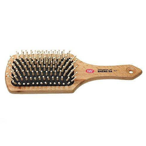 SODIAL(R) Peigne brosse a cheveux comb brush en bois anti-statique massage coiffure femmes