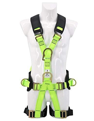 H-O Reflektierende Fluoreszenz Safety Absturzsicherung Dachdecker Fallschutz,Kindersicherheitsgurt Klettern Outdoor Abenteuer Fallender Sicherheitsgurt
