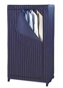 Wenko 4381650100 Comfort Housse Penderie Bleu/Blanc Dimensions 52,5 x 26,5 x 10 cm