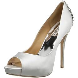 Badgley Mischka Sandalias Kiara de plataforma para mujer, Blanco (Blanco), 7 B(M) US