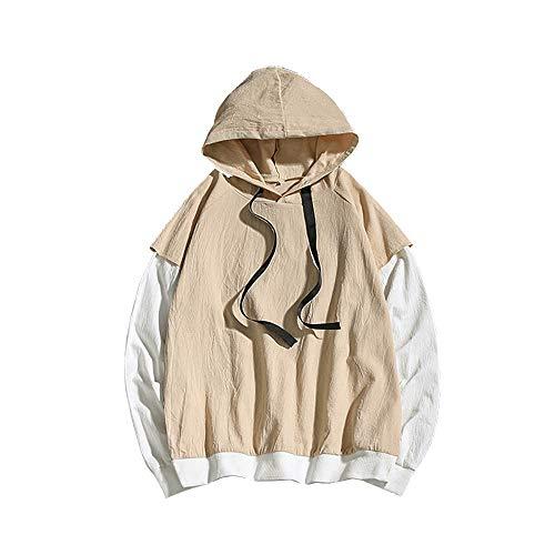FRAUIT Männer Fashion Style Kapuzenpullover Hoodies Winter Warme Jumper für Frauen und Männer Mode KPOP Sweatshirt Fit Langarm Hoodie Sweatshirt Pullover
