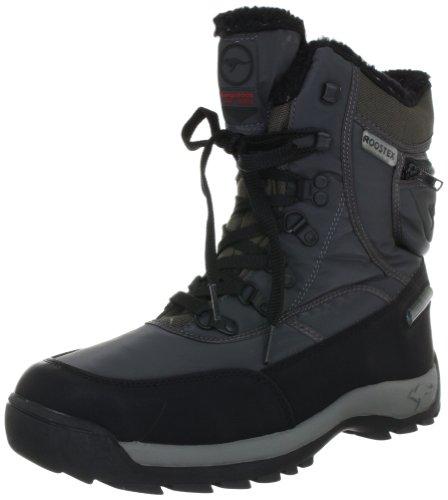 KangaROOS Aspen 71406, Unisex - Erwachsene Snowboots, Grau (charcoal/black/fire 256), EU 43