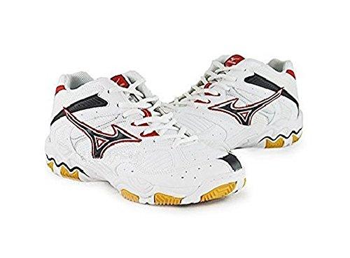 Mizuno, scarpe da pallavolo, modello Wave Blocker Mid, uomo, colore bianco e rosso bianco-rosso