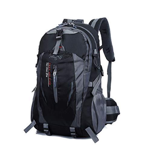 Wanderer Erweiterbar Rucksack (H&Y Damen zu Fuß im Freienrucksack, Innenrahmen-Wanderer-Rucksack, verwendbar für die im Freienreise, die das Kampieren wandert (Farbe : SCHWARZ, größe : L33CMXW20CMXH50CM))