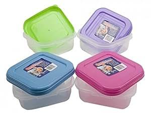 Place à micro-ondes Conteneur pour aliments en plastique avec couvercle Congélateur déjeuner Tupperware Box