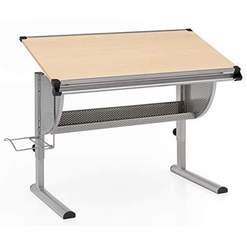 FineBuy Design Kinderschreibtisch Michi Holz 120 x 60 cm Buche   Mädchen Schülerschreibtisch neigungs-verstellbar   Schreibtisch Kinder höhenverstellbar