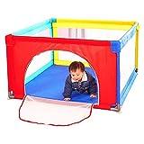 WYDM Baby-Gewebe-Laufstall mit Bodenmatte, Faltbarer tragbarer Raumteiler-Kind scherzt Barriere mit Tür/Zip (größe : 120 * 120 * 70CM)