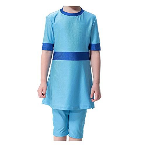 Xinvivion Mädchen Bescheiden Muslimische Badebekleidung - 3 Stücke Sommer Burkini mit Schwimmhaube islamisch Mittlerer Osten Arabisch Tankinis Beachwear Badeanzug für Kinder (Muslimische Mädchen)