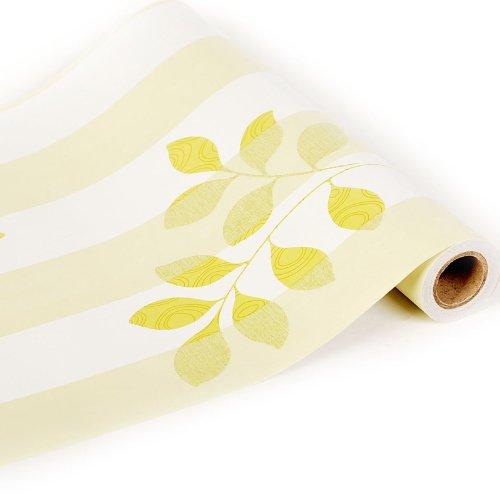 Zhzhco Verdickung Pvc Selbstklebend Tapeten Tapeten Rustikal Geprägtes Wallpaper Hintergrund Der Kinderzimmer Wohnzimmer 6 Blättriges Kleeblatt 45Cm*10M