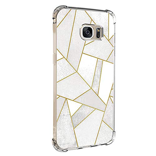 14chvily Kompatibel mit Galaxy S7 Hülle, Marmor-Design Silikon S7 Handyhüllen Bumper Ultra Dünn Durchsichtig TPU Schutzhülle für Galaxy S7 Edge (02, S7)
