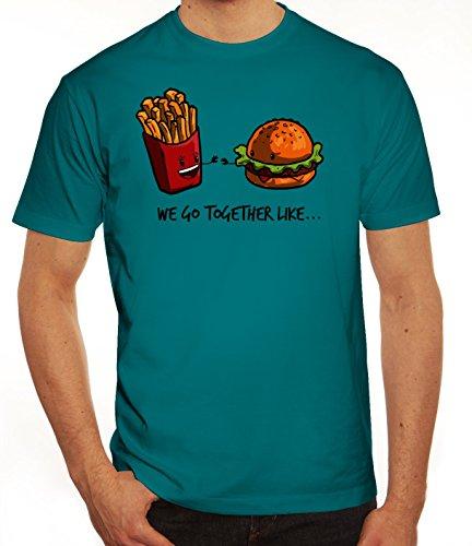 Valentinstag Herren T-Shirt mit Fries + Burger Motiv von ShirtStreet Diva