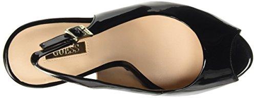 Guess Patent Pu, Scarpe con Tacco Donna Nero