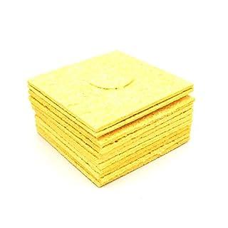 arlent 10PCS Lötkolben Reinigungsschwamm Spitze von Staubbeutel gelb 60mm x 60mm x 1,8mm