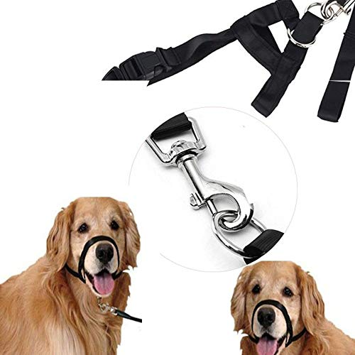 outopen Nylon-Halfter für Hunde, kein Ziehen, kein Ziehen, für Training