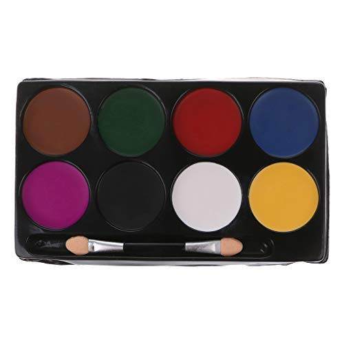 Junlinto, 8 Farben Gesicht Körperbemalung Palette Halloween Makeup -