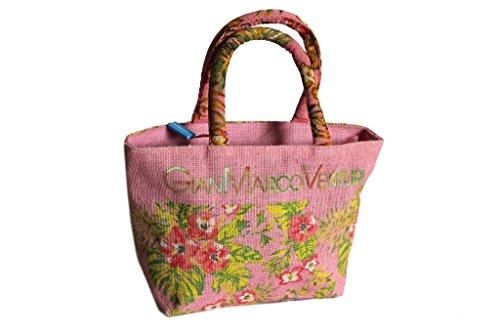 Borsetta mare Gian Marco Venturi l.flowers donna moda mare 43442 rosa