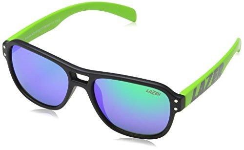 Lazer Kinder Kidi Brille, Black/Flash Green, One Size