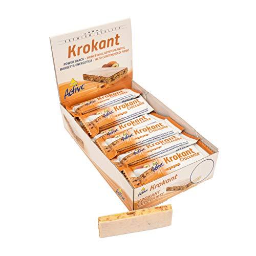 Inkospor Krokant Riegel Kohlenhydrat Protein Schnitte 24 x 30g mit Atlant Vital Tube und Fitnessguide (Krokant)