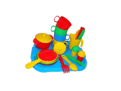 Wader Cookware Toy Set for Four with Tray