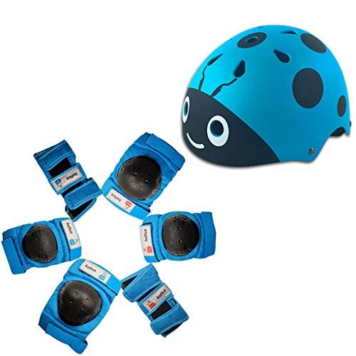 Lsrryd Casque de Snowboard de Ski Enfant Super léger Un Moule Conception Casque de Neige Durable protéger 7pcs (Couleur : Bleu, Taille : M 23-35kg)