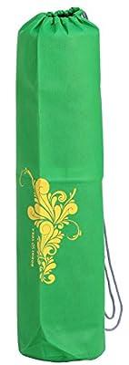 Yogatasche EASY BAG, recyclebare PP-Yogamattentasche mit Print (gelb), supergünstige leichte Mattentasche, für 60cm Standard -Yogamatten