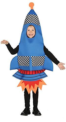 shoperama Kinder-Kostüm Rakete Spaceshuttle Flugkörper Weltraum Kosmos All Universum Cape Canaveral Jungen Mädchen, Größe:7 bis 9 Jahre