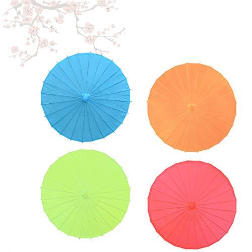 strimusimak Langlebig DIY einfarbig leeres Papier Regenschirm tanzen und hochzeitsdekor. rot 20 cm