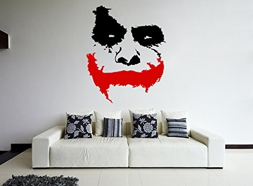 (100x83 cm) Pared Calco Vinilo Miedo Joker Placa frontal