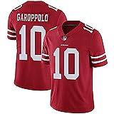 LIANGJK Rugby Trikot 49ers San Francisco 49ers 10 GAROPPOLO II Legendary Besticktes Trikot