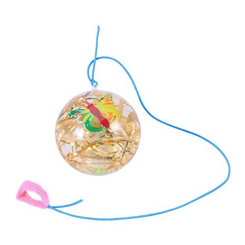 Toyvian Blinkende Springbälle mit Seil Bouncing Balls für Kinder (Gold Seide) (zufällig)