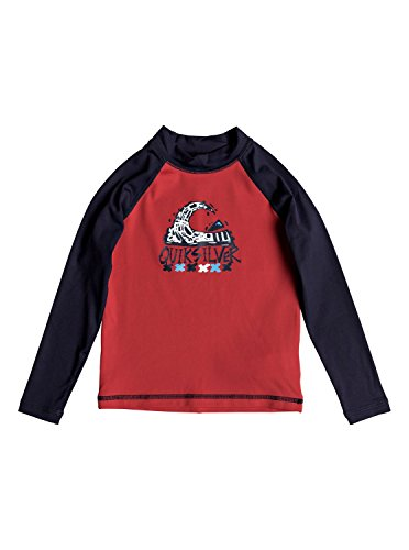 Quiksilver Bubble Dream - Long Sleeve UPF 50 Rash Vest for Boys 2-7 - Jungen 2-7 - Herren Bubble Vest