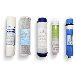 Kit Oferta Membrana + Filtros para Ósmosis Inversa. Filtros para ósmosis 5 etapas. Universales. Modelo Jacar compatible…