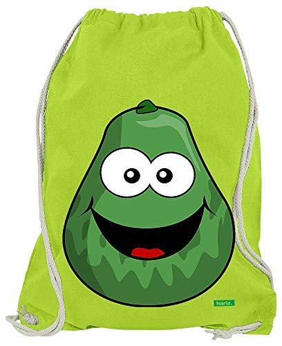 HARIZ Turnbeutel Avocado Lachend Frucht Süß Plus Geschenkkarten Limette Grün One Size -