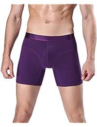 Battercake Calzoncillos De Hombre Calzoncillo Resbalón Cortos Color Sólido  Transpirable Pantalones Cómodo De Natación Calzoncillos Elásticos 39d5317251a6