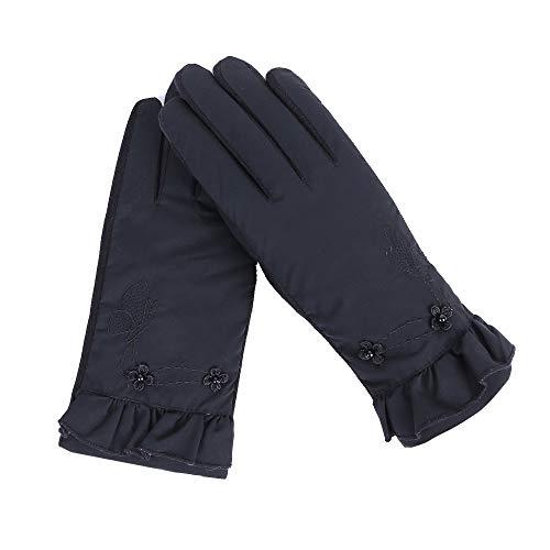 VonVonCo Damen FäUstlinge Windproof Handschuhe Touchscreen Winter Warm Ski Unten Outdoor Sport Laufhandschuhe Gloves (Schwarz)