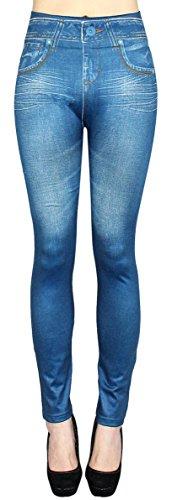 dy_mode Thermo Leggings Damen / Thermo Jeggings mit Innenfutter und Taschen Damen Thermo Leggins - Gr. 36-42 - WL020-023 (42/44 - XL/XXL, WL033)