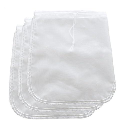 BESTOMZ Nut Milk Bag - Cheesecloth and Food Strainer - Almond Milk, Juice, Cottage Cheese, Greek Yogurt Maker - Durable Reusable Bag - Fine Mesh Nylon