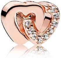Pandora Women's Interlocked Hearts Petite Charm - Silver Plated