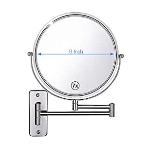 Gospire Wall Mounted Makeup Mirror 7x Magnification 9