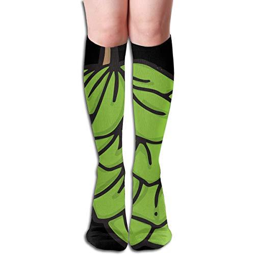 Eybfrre Unisex Colorful Dress Socks, Green Beer Hops, Winter Soft Cozy Warm Socks Cute Funny Crew Cotton Socks 1 Pack