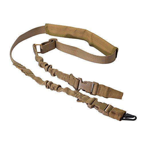 Taktisches Gewehr Sling 1 oder 2 Punkt gewehrriemen bügel Einstellbares Gun Gurt mit schnellen Stahlhaken und abnehmbar Schulterpolster für die Jagd (Taktische Airsoft Guns)