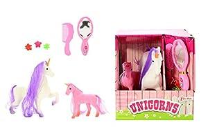 Toi-Toys-Establo Incl 2Caballos Figura, 06225a, Multicolor